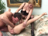 Next perversions. The young girl and the elderly lady take part in each of episodes, it is a lot of s