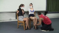 Serene Isley, Elizabeth Andrews, and Dominic Wolfe : Tethered together.