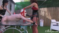 Punishing a Slave with Strap-Ons featuring Anna Myst