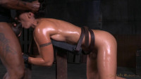 Fit Milf Wenona baltid in striect bondage and roughly fucked with BBC, brutal punishing deepthroat!