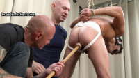 Oliver - Restrained In A Jock Strap Covered In Piss
