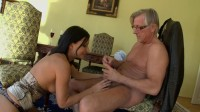 Abbie Cat A Beautiful Brunette Has Sex With An Old Man