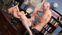 He Takes A Blonde Into His Office For A Personal Photoshoot