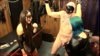 Amateur Couple FemDom Lessons – Chastity CBT Threesome