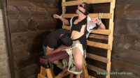 Still gagged, bound and blindfolded