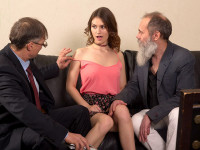Download Two old men talk babe into throwing an orgy.