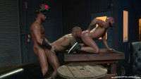 Threesome Fuck With Rough Muscle Males