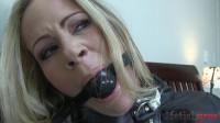 Extreme bondage jacket slave blonde girl model action. enjoy!