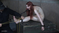 Tied Up Toy Torments Own Tits.