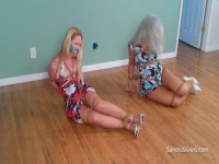 Sandra Silvers Lisa Harlotte Vacationing Bound Multi-Layer Gagged Seaside Motel! (2016)