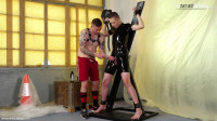 Rubber slave gets sounded by Master Aaron!