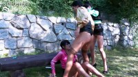 Piss In The Park! Lesbos Fill Their Faces With Piss and Attack That Clit!.