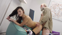 Uneven-aged doggy orgasm