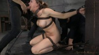 Chanel Preston sexually disgraced, tag teamed by cock and brutal deep throat.