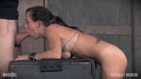 Hot MILF has her tits brutally bound (rough sex, watch, guys)!
