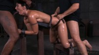 Fit MILF Wenona belted in strict bondage and roughly fucked with BBC