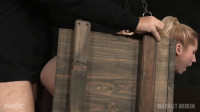 Tiny blonde Odette Delacroix bound inside box roughly fucked (2016)