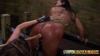 Hot Muscle MILF Becca Diamond's 1st Lesbian Domination with Brooklyn Daniels & Mila Blaze