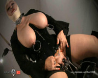 SlaveM  / clip4sale - Chubby babe in black corset tortured her pussy
