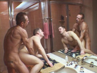 Muscle Husbands In Raw Gangbang At House