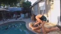 Bikini bimbo bound for dunking