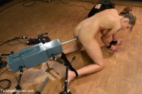 A Slave to the Machines: Sexy 19yr Old worked over by fucking machines until she Squirts.