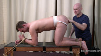 Tied - Jockstrap sphincter stretched electro shocks