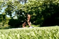 Black sex outdoors