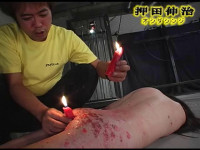 Slave japanese girl Gunstrike and waxing torture action...