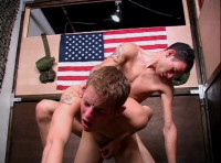 Beautiful guys fucked at the wood