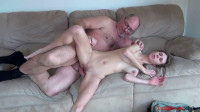 Daddy with monster cock abused young bitch