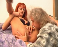Pussy licking for a redhead