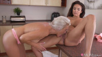 Busty mature lesbians pussy eating