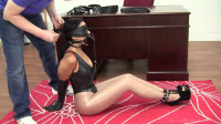 Enchantress Sahrye : Leather Strap Hogtie At The Boss's Request