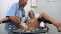 Barbara, 20 years old girl gyno exam. Checkup with measurements, breasts and physical
