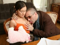 Download Hot pigtailed brunette gets fucked by her old teacher.