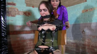 Super bondage, suspension, torture and hogtie for young slut - tit, mouth, nipples, super, body