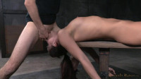 Bianca Breeze Shackled Down and Throatboarded!
