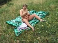 Porky Big Tits anal outdoors