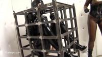 Cube Cage — Anna Rose & Valentina Fetish Doll