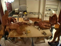 Hard Gangbang With Muscle Pigs