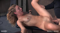 Domme Mona Wales, is bound down and brutally dicked down, rough face fucking and O's