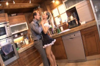 Big Titty Spanish Maid Gets Real Busy