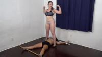 Bound, trampled & humiliated by busty trainer