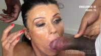 Vicky Love Enjoys Interracial Blowbang