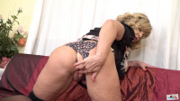 Big tit milf ellis playing with her pussy with blue toy