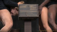 Alina West Bolted into a Wooden Box and Roughly Fucked by BBC