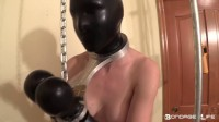 They're getting hot and heavy when she notices some interesting magazines on his nightstand - bondage