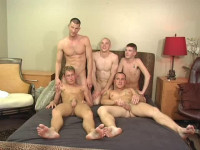 Deep orgy with real military guys
