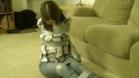Jeanette Cerceau - Taped Tied Over A Television